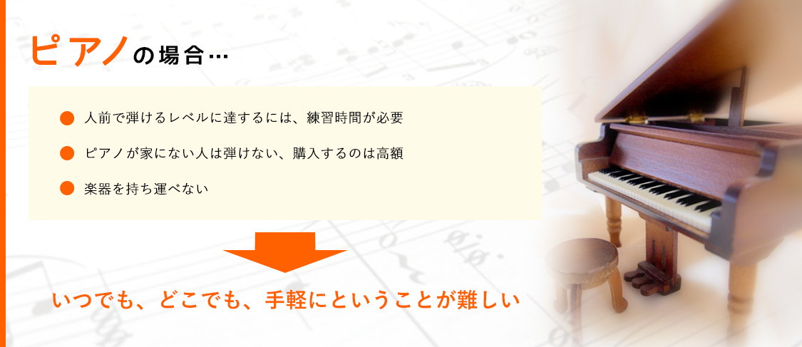 ピアノの場合